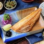 烤花魚定食